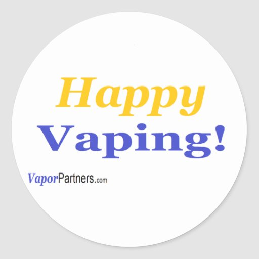Happy Vaping Stickers