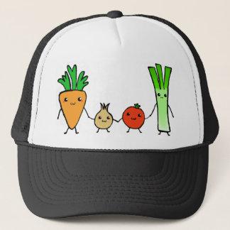 Happy veg trucker hat