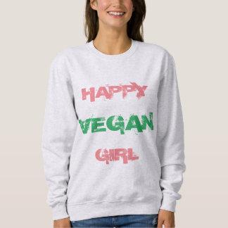HAPPY VEGAN GIRL Ash Women's Sweatshirt