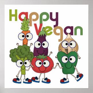 Happy Vegan Poster