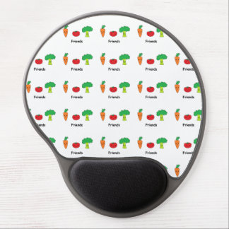 Happy Vegetable Friends Gel Mouse Pad