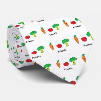 Happy Vegetable Friends Tie