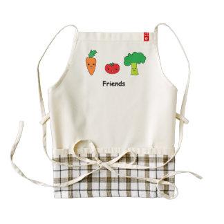 Happy Vegetable Friends Zazzle HEART Apron