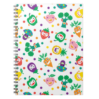 Happy Vegetables and Fruit notebook