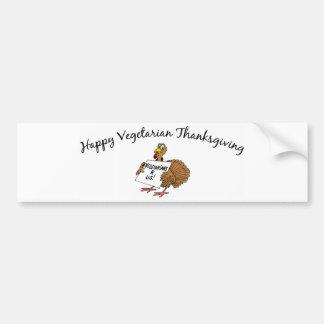 Happy Vegetarian Thanksgiving Car Bumper Sticker