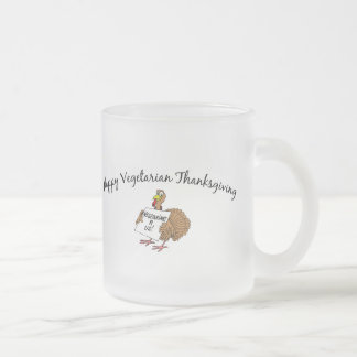 Happy Vegetarian Thanksgiving Frosted Glass Coffee Mug