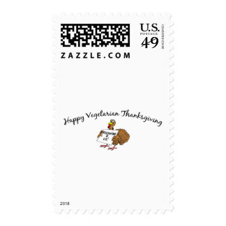 Happy Vegetarian Thanksgiving Stamps