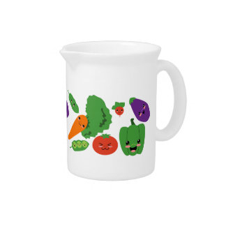 Happy Veggies Beverage Pitcher