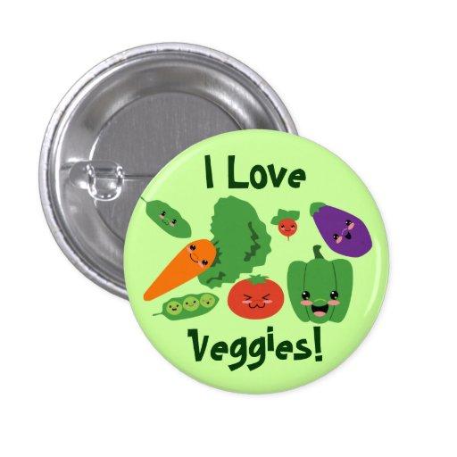 Happy Veggies Button