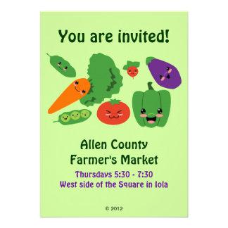 Happy Veggies Custom Invitation