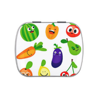 Happy Veggies Jelly Belly™ Candy Tin