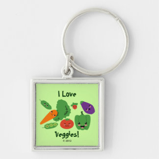 Happy Veggies Keychain