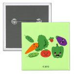 Happy Veggies Pinback Button