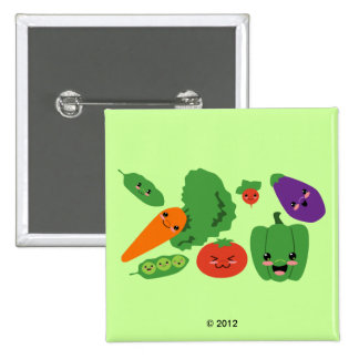 Happy Veggies Pinback Button