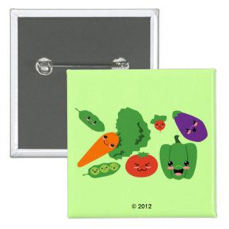 Happy Veggies Pins