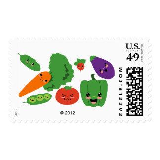 Happy Veggies Postage