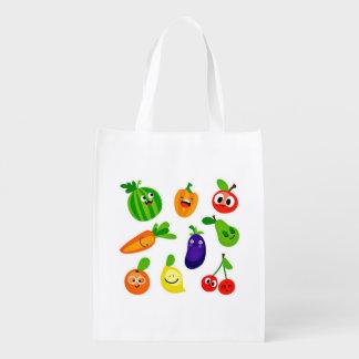 Happy Veggies Reusable Bag