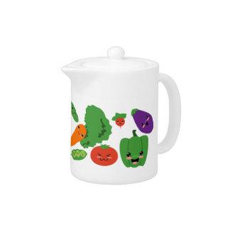 Happy Veggies Teapot