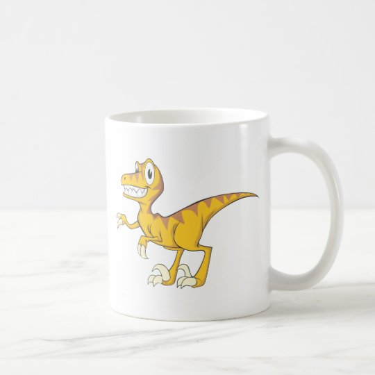 Happy Velociraptor Dinosaur Coffee Mug