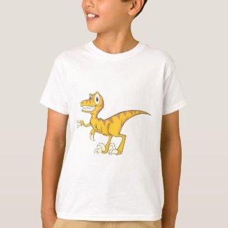 Happy Velociraptor Dinosaur T-Shirt