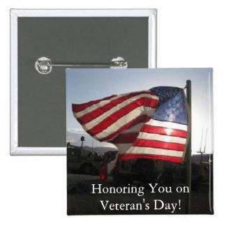 Happy Veteran s Day Pinback Button