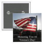 Happy Veteran's Day! 2 Inch Square Button