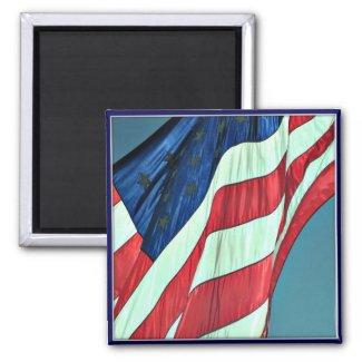 Happy Veterans Day, American Flag Smiley - Magnet