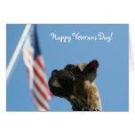 Happy Veterans Day Boxer puppy greeting card