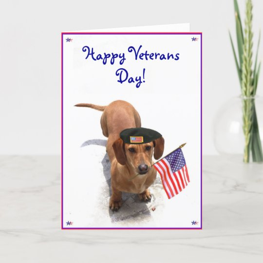 Happy veterans day dachshund greeting card zazzle happy veterans day dachshund greeting card m4hsunfo