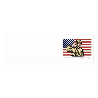 Happy Veterans Day Greeting Card Soldier Salute jp Business Card