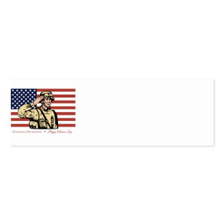 Happy Veterans Day Greeting Card Soldier Salute jp Business Cards