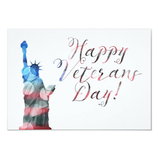 Happy Veterans Day (liberty bokeh) Card