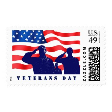 Happy Veterans Day. Military Postage Stamps