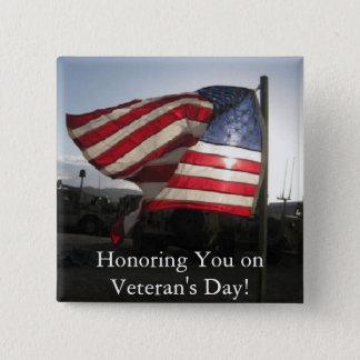 Happy Veteran's Day! Pinback Button