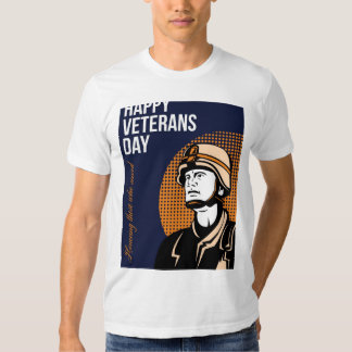 Happy Veterans Day Serviceman Greeting Card T Shirt