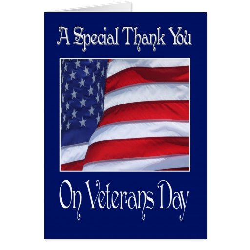 Happy Veterans Day Thank You card | Zazzle
