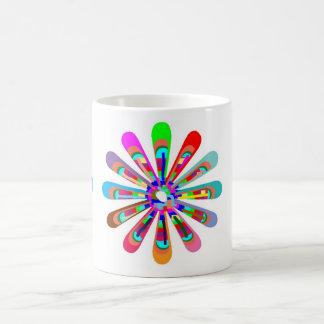 HAPPY Vibes :  Graphic Flower CHAKRA Art Coffee Mug