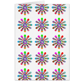 HAPPY Vibes :  Graphic Flower CHAKRA Art Greeting Card
