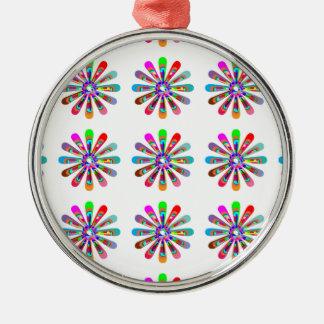 HAPPY Vibes :  Graphic Flower CHAKRA Art Ornament