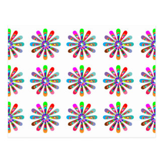 HAPPY Vibes Graphic Flower CHAKRA Art Postcards