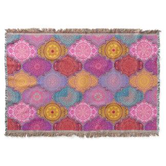 Happy Vibrant Tribal Bohemian Throw Blanket