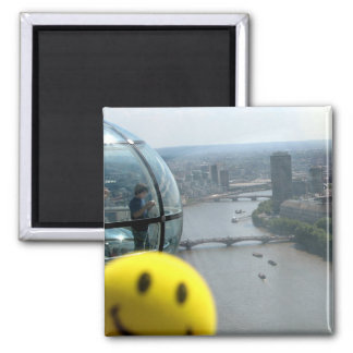 Happy View 2 Inch Square Magnet