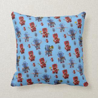 Happy vintage robot pattern pillows