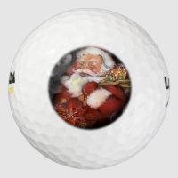 Happy vintage Santa Claus Golf Balls