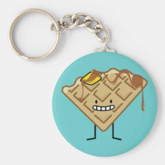 Happy Waffle Keychain