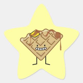 Happy Waffle Star Sticker