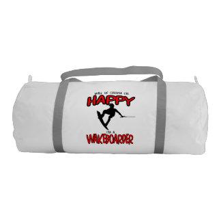 HAPPY WAKEBOARDER (black) Duffle Bag