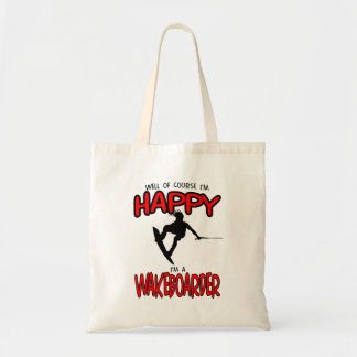 HAPPY WAKEBOARDER (black) Tote Bag