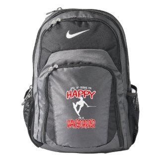HAPPY WAKEBOARDER (white) Nike Backpack
