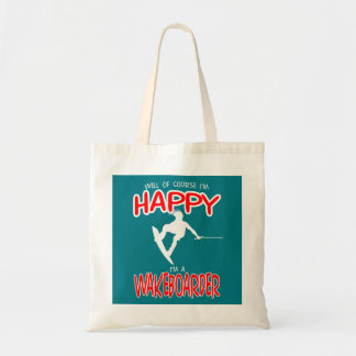 HAPPY WAKEBOARDER (white) Tote Bag